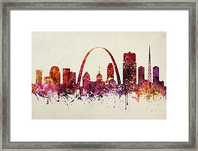 Saint Louis Cityscape 09 Framed Print by Aged Pixel