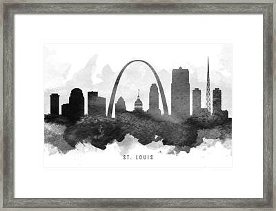 Saint Louis Cityscape 11 Framed Print by Aged Pixel
