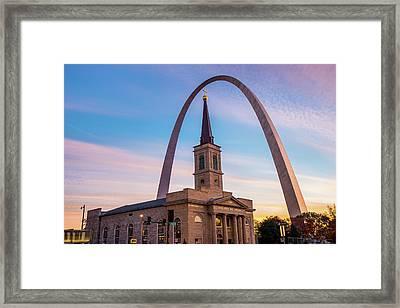 Saint Louis Icons - Downtown Saint Louis Missouri Framed Print by Gregory Ballos