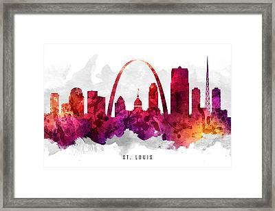 Saint Louis Missouri Cityscape 14 Framed Print by Aged Pixel