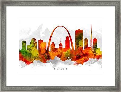 Saint Louis Missouri Cityscape 15 Framed Print by Aged Pixel