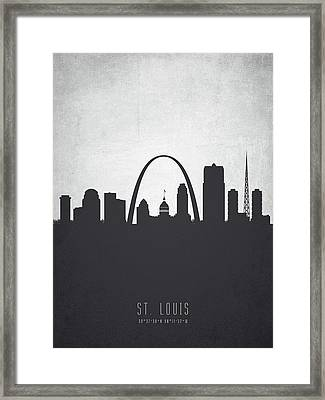 Saint Louis Missouri Cityscape 19 Framed Print by Aged Pixel