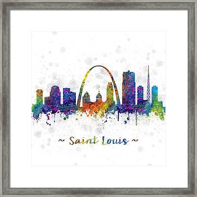 Saint Louis Missouri Color 03sq Framed Print by Aged Pixel