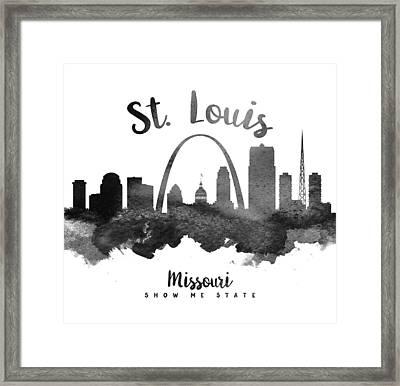 Saint Louis Missouri Skyline 18 Framed Print by Aged Pixel