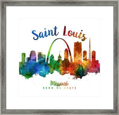 Saint Louis Missouri Skyline 25 Framed Print