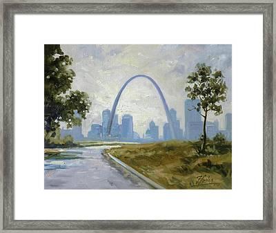 Saint Louis  Panorama Framed Print