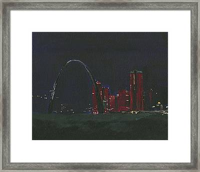 Saint Louis Skyline Framed Print
