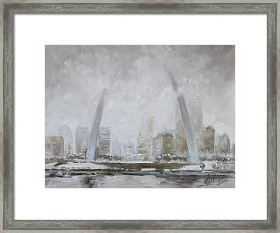 Saint Louis Winter Day Framed Print