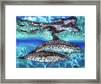 Saint Lucia Wild Dolphins Framed Print by Daniel Jean-Baptiste