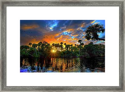 Saint Lucie River Sunset Framed Print
