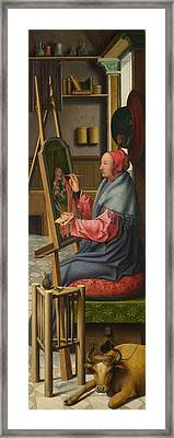 Saint Luke Painting The Virgin And Child Framed Print