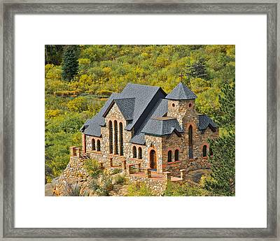 Framed Print featuring the photograph Saint Malo Fall Foliage by Stephen  Johnson