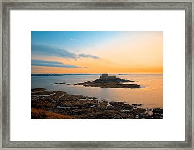 Saint-malo Twilight 2 Framed Print