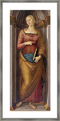 Saint Margaret Of Antioch Framed Print by Pietro Perugino