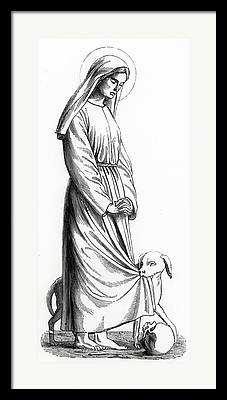 St Margaret Drawings Framed Prints