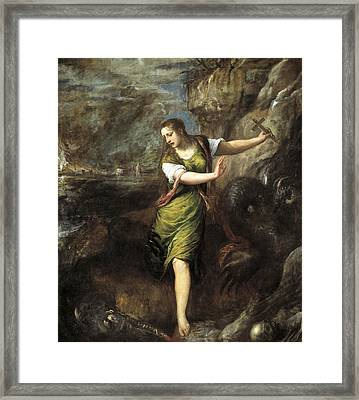 Saint Margaret  Framed Print