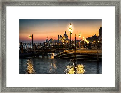 Saint Mark At Night During Carnivale Framed Print by Aaron Choi