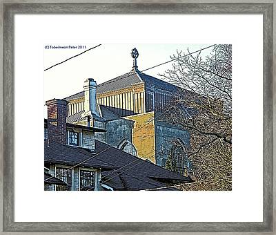 Saint Marks Cross Framed Print by Tobeimean Peter