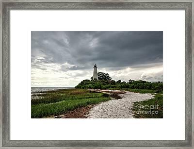 Saint Marks Lighthouse, Florida Framed Print by Felix Lai