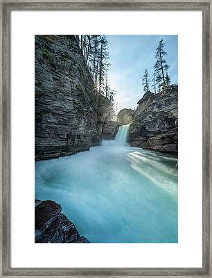 Saint Mary Falls // Glacier National Park  Framed Print