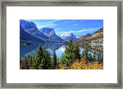 Saint Mary Lake In Glacier National Park Framed Print