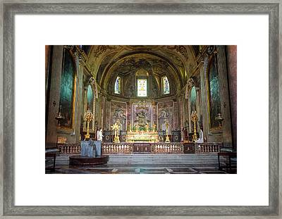 Saint Mary Of The Angels Rome Framed Print by Joan Carroll
