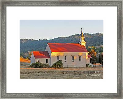 St. Mary's Church At Sunset Framed Print