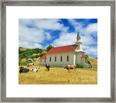 St. Mary's Visitors Framed Print
