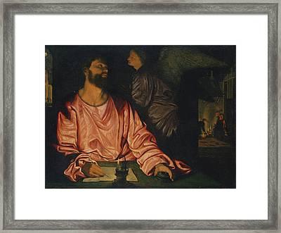 Saint Matthew And The Angel Framed Print