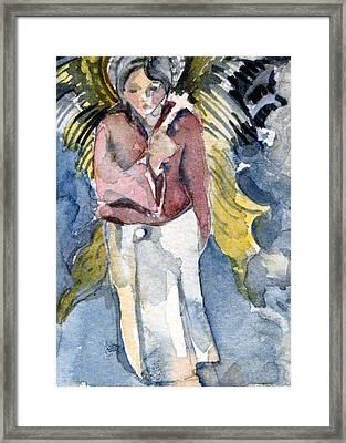 Saint Matthew Framed Print by Mindy Newman