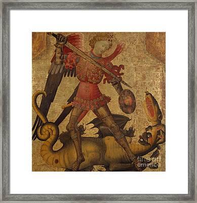 Saint Michael And The Dragon Framed Print