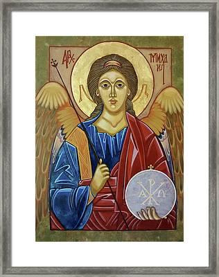 Saint Michael Archangel Framed Print by Danielle Tayabas