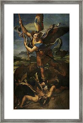Saint Michael Defeats Satan Framed Print