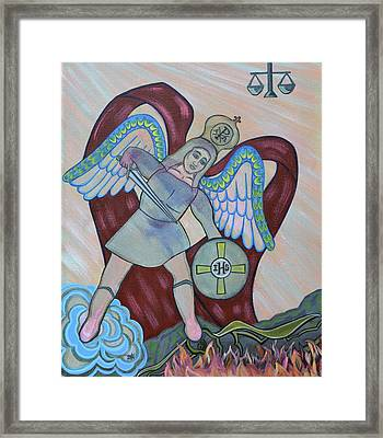 Saint Michael The Archangel Framed Print by Danielle Tayabas