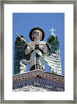 Saint Michael The Archangel Lucca Tuscany Framed Print by Mathew Lodge