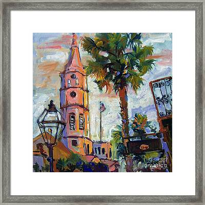 Saint Michaels Church Charleston Sc Oil Painting Framed Print