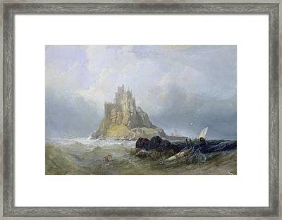 Saint Michael's Mount In Cornwall  Framed Print by William Clarkson Stanfield