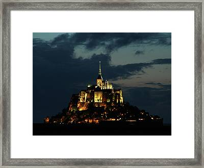 Framed Print featuring the photograph Saint Michel Mount After The Sunset, France by Yoel Koskas