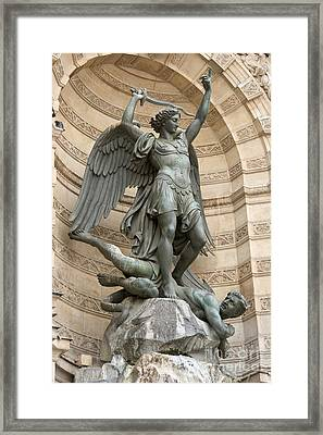 Saint Michel Striking Down The Dragon II Framed Print