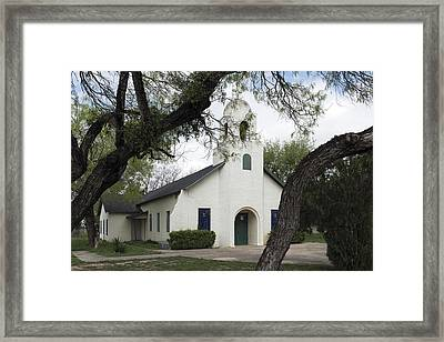Saint Miguel Archangel Catholic Church In Little Los Ebanos Framed Print