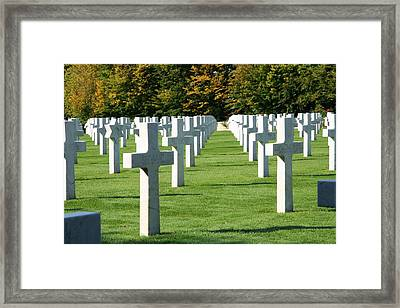 Framed Print featuring the photograph Saint Mihiel American Cemetery by Travel Pics