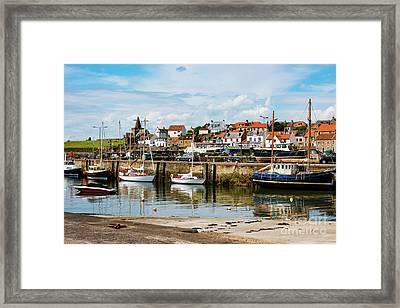 Saint Monans Harbour Framed Print by MaryJane Armstrong