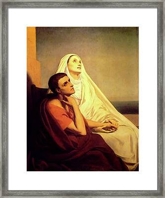 Saint Monique And Saint Augustin Framed Print