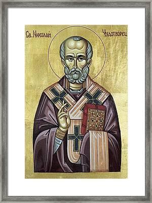 Saint Nicholas Framed Print by Anton Dimitrov
