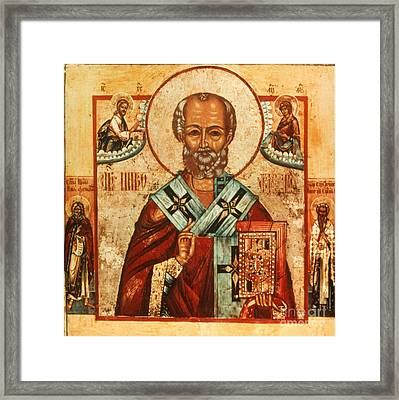 Saint Nicholas Framed Print by Granger