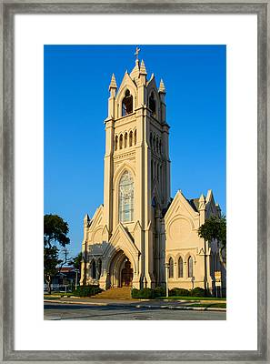 Saint Patrick Catholic Church Of Galveston Framed Print