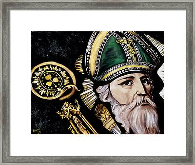 Saint Patrick Framed Print by Leeann Stumpf