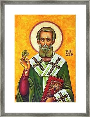 Saint Patrick Portrait, 2016 Version Framed Print by Jose Angel Surfing Horizon