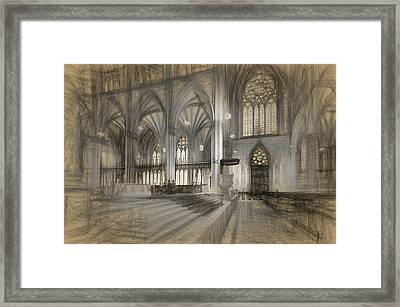 Saint Patrick's Cathedral In New York City Framed Print