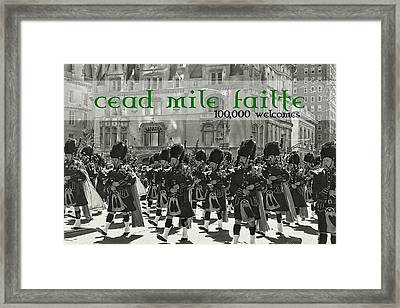 Saint Patricks Day Quote Framed Print by JAMART Photography